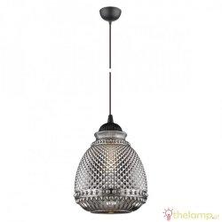 Φωτιστικό κρεμαστό μέταλλο & γυαλί E27 240V καφέ/γκρι 03068PE/BR