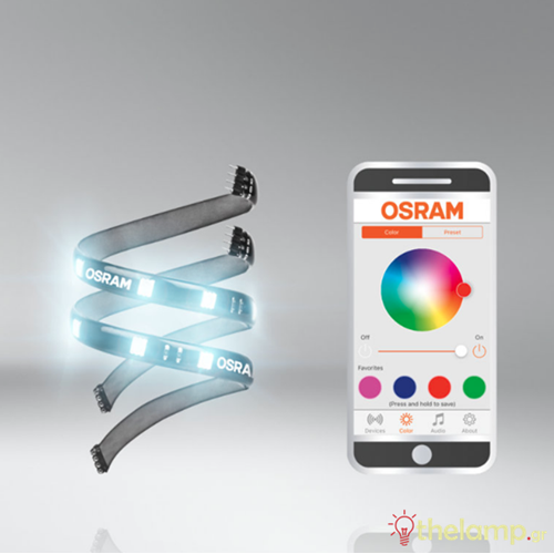 Led ταινία 12V 1.5W 30cm RGB app LEDambient tuning lights LEDINT104 extension kit Osram