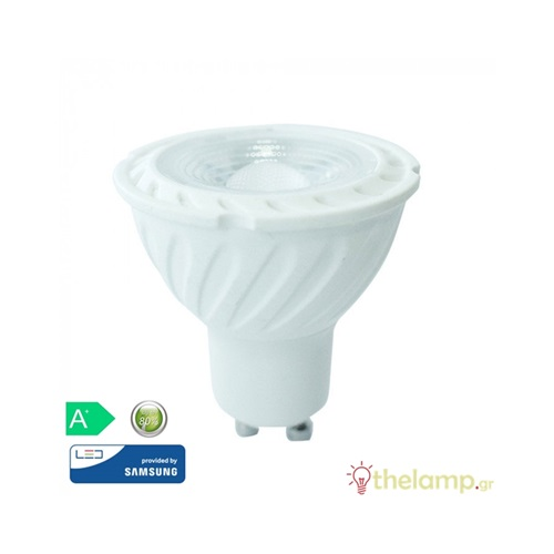 Led GU10 6.5W 220-240V 110° warm white 3000K Samsung chip 192 VT-247 V-TAC