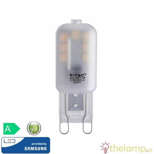 Led G9 2.5W 240V cool white 4000K Samsung chip 244 VT-203 V-TAC