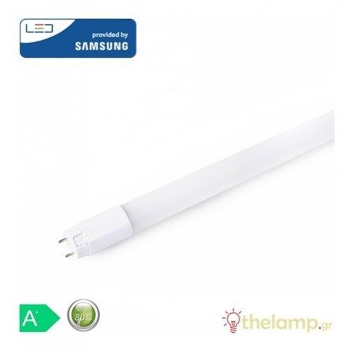 Led φθόριο 22W T8 G13 230V 150cm 160° nano plastic warm white 3000K Samsung chip 656 VT-151 V-TAC