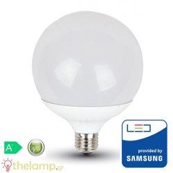 Led γλόμπο G120 17W E27 240V cool white 4000K Samsung chip 226 VT-218 V-TAC