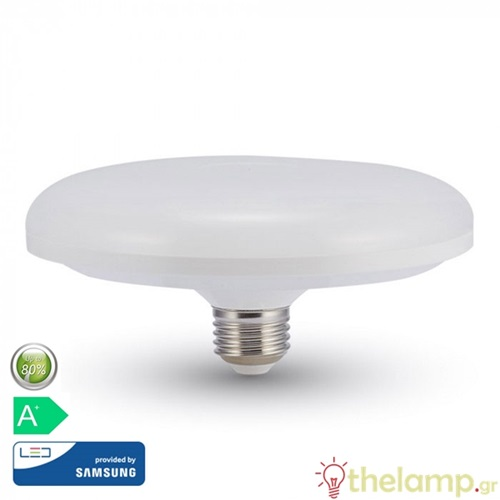 Led F200 24W E27 220-240V warm white 3000K Samsung chip 216 VT-224 V-TAC