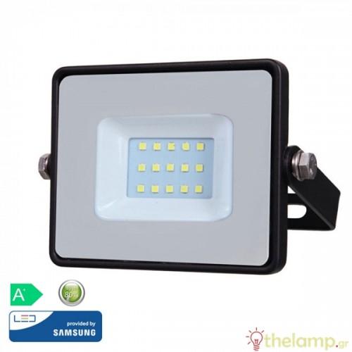Προβολέας led 10W 230V 100° cool white 4000K μαύρος Samsung chip 425 VT-10 V-TAC
