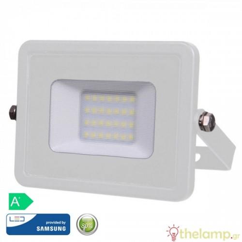 Προβολέας led 20W 230V 100° day light 6400K λευκός Samsung chip 444 VT-20 V-TAC