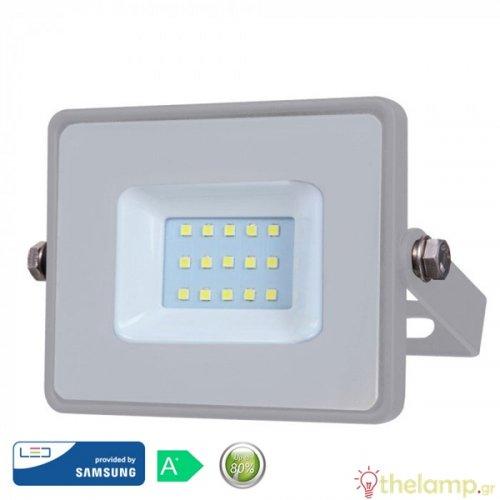 Προβολέας led 20W 230V 100° cool white 4000K γκρι Samsung chip 446 VT-20 V-TAC