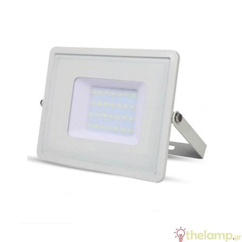 Προβολέας led 30W 230V 100° warm white 3000K λευκός Samsung chip 403 VT-30 V-TAC