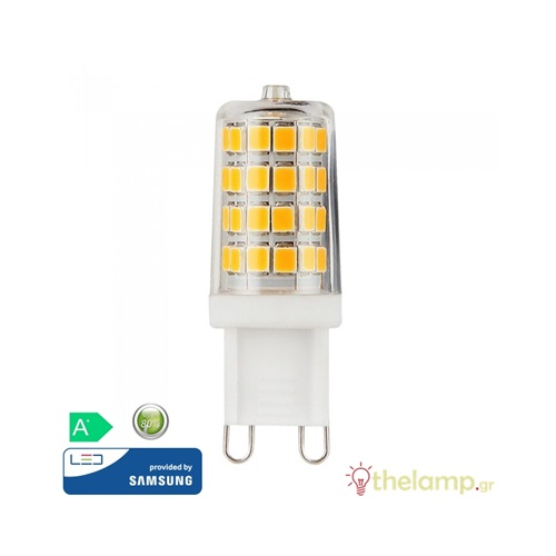 Led G9 3W 240V warm white 3000K Samsung chip 246 VT-204 V-TAC