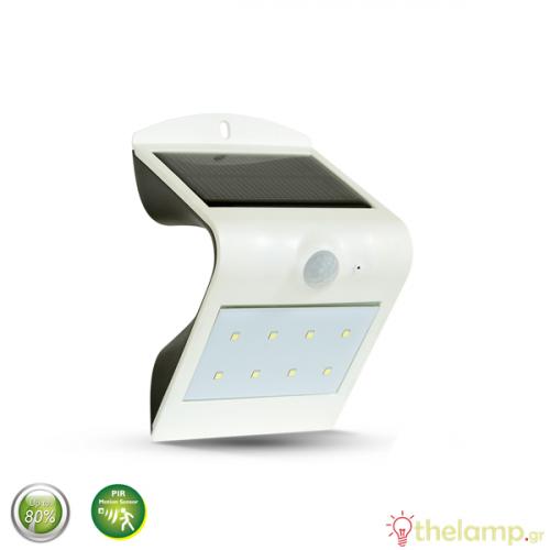 Ηλιακό φωτιστικό Led 1.5W με αισθητήρα κίνησης cool white 4000K λευκό 8276 VT-767-2 V-TAC