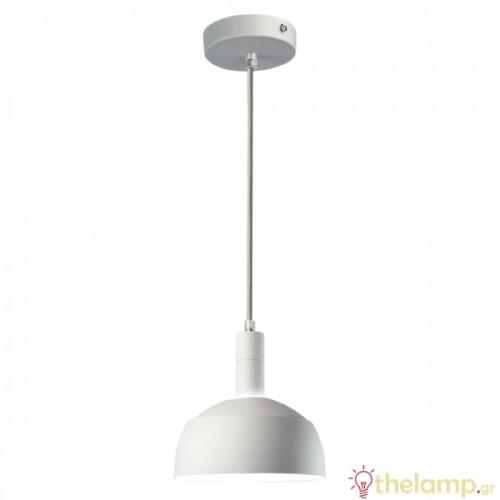 Φωτιστικό κρεμαστό πλαστικό & αλουμίνιο με κινητό κάλυμμα λευκό 3920 VT-7100 V-TAC