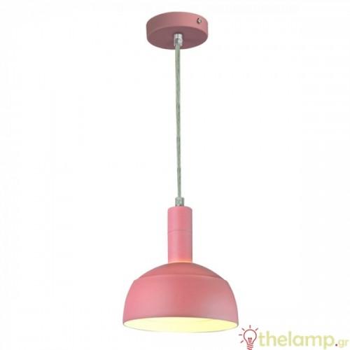 Φωτιστικό κρεμαστό πλαστικό & αλουμίνιο με κινητό κάλυμμα ροζ 3923 VT-7100 V-TAC