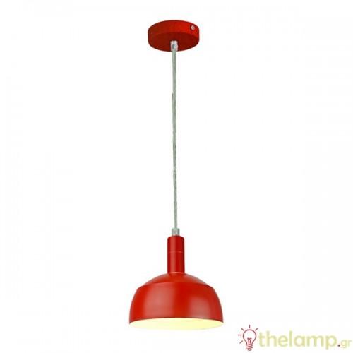 Φωτιστικό κρεμαστό πλαστικό & αλουμίνιο με κινητό κάλυμμα κόκκινο 3924 VT-7100 V-TAC