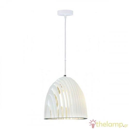 Φωτιστικό κρεμαστό cone prism μεταλλικό λευκό 3952 VT-7255 V-TAC