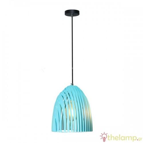 Φωτιστικό κρεμαστό cone prism μεταλλικό γαλάζιο 3953 VT-7255 V-TAC
