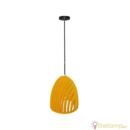 Φωτιστικό κρεμαστό cone prism μεταλλικό κίτρινο 3954 VT-7255 V-TAC