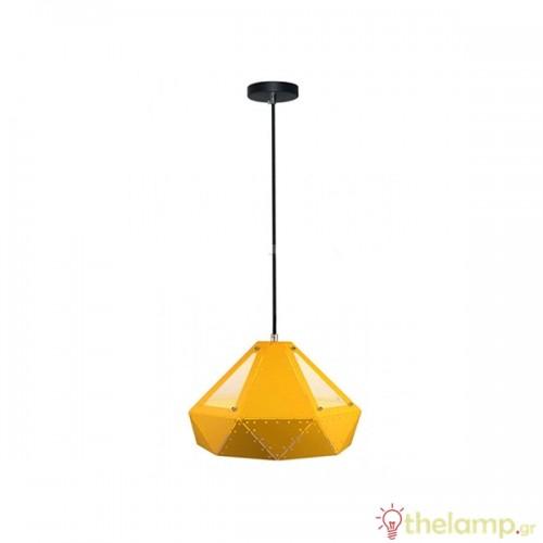 Φωτιστικό κρεμαστό pastel prism μεταλλικό κίτρινο 3947 VT-7310 V-TAC