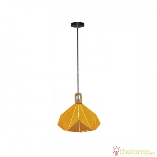 Φωτιστικό κρεμαστό pastel prism μεταλλικό κίτρινο 3950 VT-7310 V-TAC