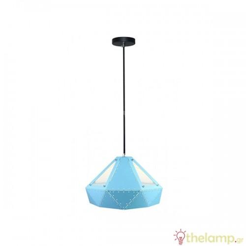 Φωτιστικό κρεμαστό pastel prism μεταλλικό γαλάζιο 3946 VT-7310 V-TAC