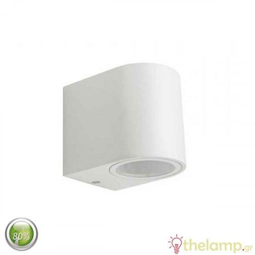 Φωτιστικό τοίχου εξωτερικού χώρου στρόγγυλο λευκό GU10 7540 VT-7651 V-TAC
