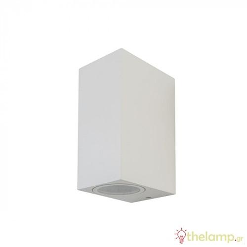Φωτιστικό τοίχου εξωτερικού χώρου τετράγωνο λευκό 2xGU10 7541 VT-7652 V-TAC