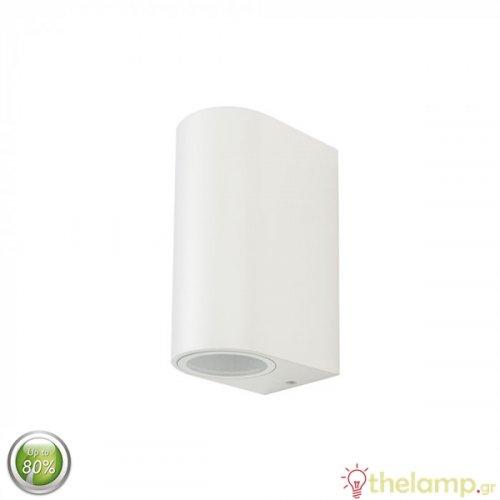 Φωτιστικό τοίχου εξωτερικού χώρου στρόγγυλο λευκό 2xGU10 7542 VT-7652 V-TAC