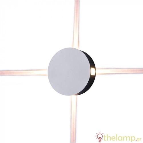 Led φωτιστικό τοίχου 4W 240V στρόγγυλο 360° warm white 3000K λευκό 8213 VT-706 V-TAC