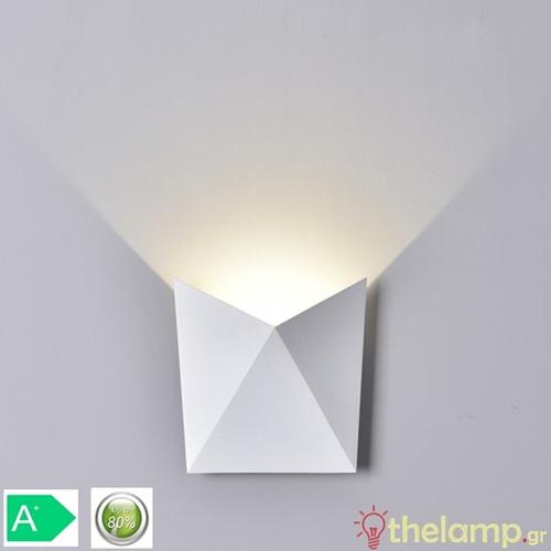 Led φωτιστικό τοίχου 5W 240V 120° warm white 3000K λευκό 8280 VT-825 V-TAC