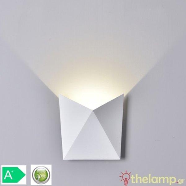 Led φωτιστικό τοίχου 5W 240V 120° cool white 4000K λευκό 8281 VT-825 V-TAC
