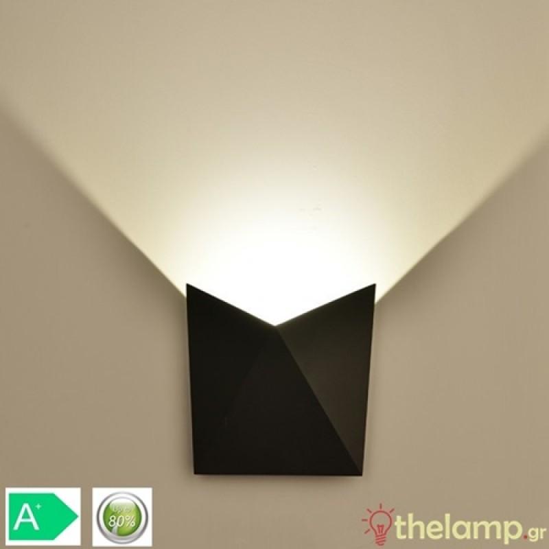Led φωτιστικό τοίχου 5W 240V 120° cool white 4000K μαύρο 8283 VT-825 V-TAC