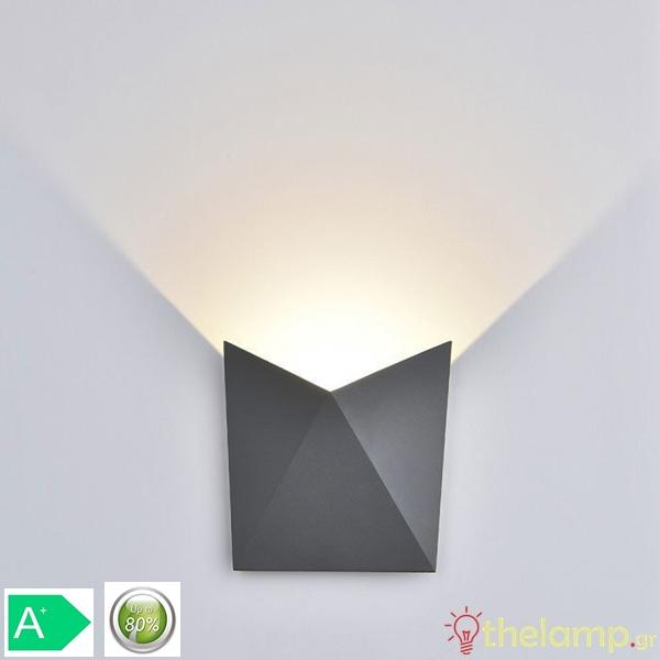 Led φωτιστικό τοίχου 5W 240V 120° warm white 3000K γκρι 8284 VT-825 V-TAC