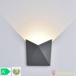Led φωτιστικό τοίχου 5W 240V 120° cool white 4000K γκρι 8285 VT-825 V-TAC