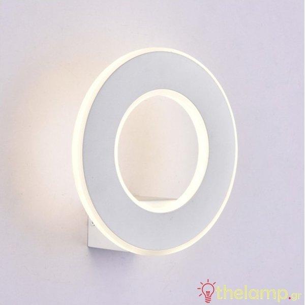 Led φωτιστικό τοίχου 9W 240V στρόγγυλο 360° warm white 3000K λευκό 8225 VT-710 V-TAC
