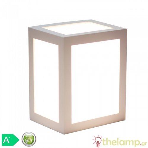 Led φωτιστικό τοίχου 12W 110-240V τετράγωνο 140° cool white 4000K λευκό 8335 VT-822 V-TAC