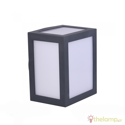 Led φωτιστικό τοίχου 12W 110-240V τετράγωνο 140° cool white 4000K μαύρο 8341 VT-822 V-TAC