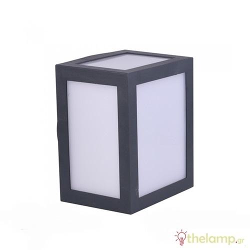 Led φωτιστικό τοίχου 12W 110-240V τετράγωνο 140° day light 6400K μαύρο 8342 VT-822 V-TAC