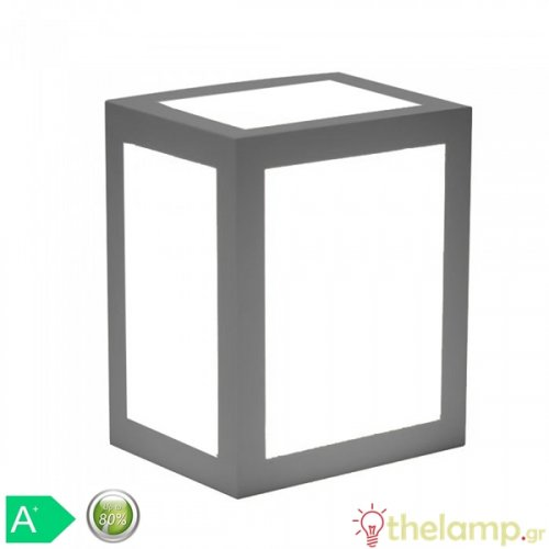 Led φωτιστικό τοίχου 12W 110-240V τετράγωνο 140° cool white 4000K γκρι 8338 VT-822 V-TAC