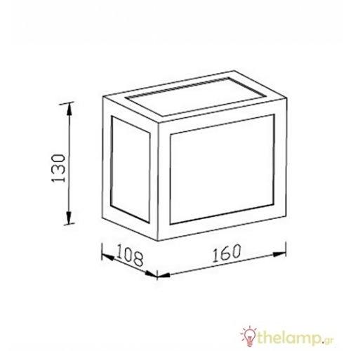 Led φωτιστικό τοίχου 12W 110-240V τετράγωνο 140° day light 6400K γκρι 8339 VT-822 V-TAC