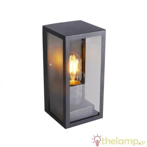 Φωτιστικό τοίχου εξωτερικού χώρου τετράγωνο μαύρο E27 240V 8517 VT-837 V-TAC