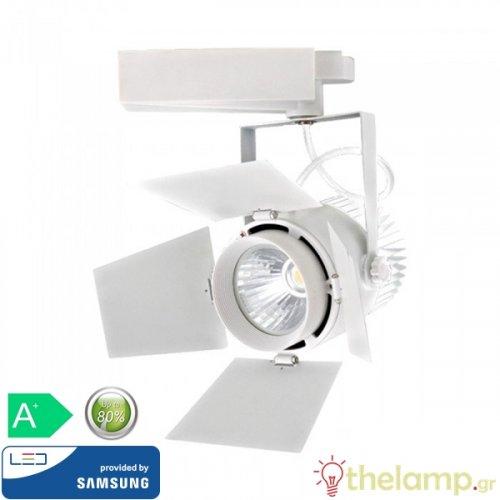 Led φωτιστικό ράγας 33W 240V 24°-60° warm white 3000K Samsung chip 368 VT-433-W V-TAC