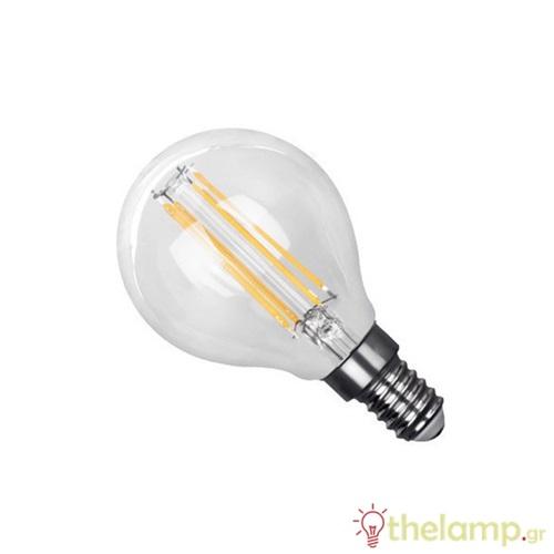 Led γλομπάκι filament G45 6W E14 240V διάφανο warm white 2800K 44-05030 Φos_me