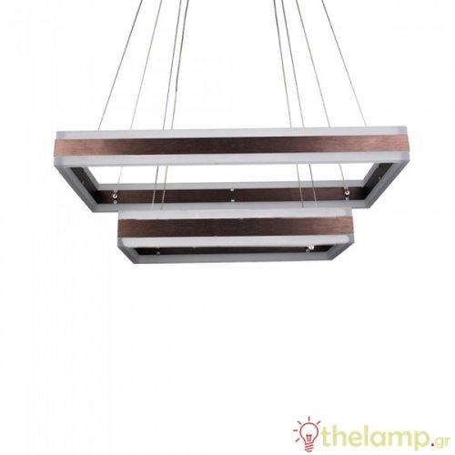Φωτιστικό κρεμαστό γεωμετρικό πολυέλαιος 115W 240V warm white 3000K καφέ dimmable 3988 VT-101-2D V-TAC