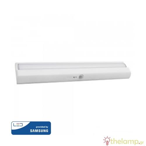 Led φωτιστικό γραμμικό με αισθητήρα κίνησης 1.5W cool white 4000K λευκό Samsung chip 814 VT-81 V-TAC
