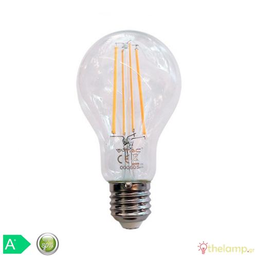 Led κοινή filament A70 12.5W E27 240V διάφανη day light 6400K 7460 VT-2133 V-TAC