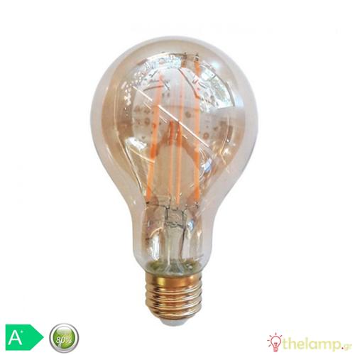 Led κοινή filament A70 12.5W E27 240V κεχριμπάρι warm white 2200K 7457 VT-2123 V-TAC