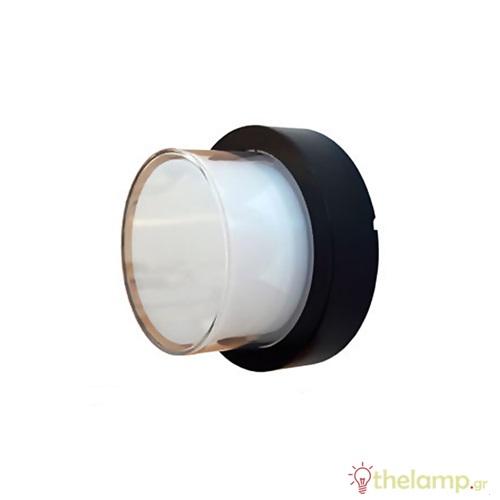 Led φωτιστικό τοίχου αδιάβροχο 12W 240V στρόγγυλο 158° cool white 4000K μαύρο 8542 VT-828 V-TAC