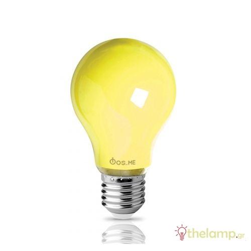 Led κοινή A60 8W E27 240V 2500K εντόμων κίτρινη 44-04942 Φos_me