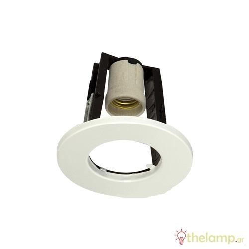 Φωτιστικό οροφής χωνευτό στρόγγυλο για σποτ R63 E27 240V λευκό 80/W
