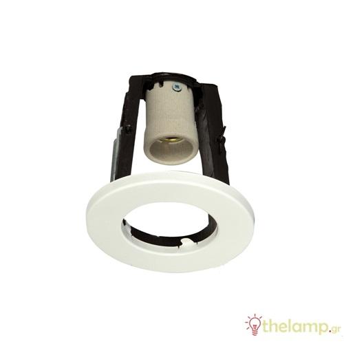 Φωτιστικό οροφής χωνευτό στρόγγυλο για σποτ R50 E27 240V λευκό 75/W