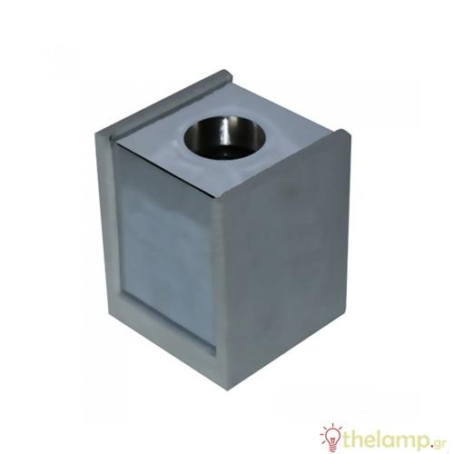 Επιφανειακό φωτιστικό τετράγωνο για σποτ GU10 γκρι-χρώμιο 3142 VT-860-CHM V-TAC