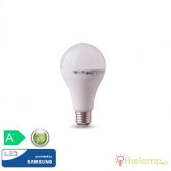 Led κοινή A80 18W E27 240V warm white 3000K Samsung chip 126 VT-298 V-TAC